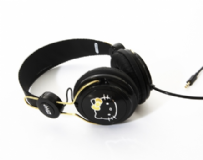 Coloud Hello Kitty Headphones Black & Gold
